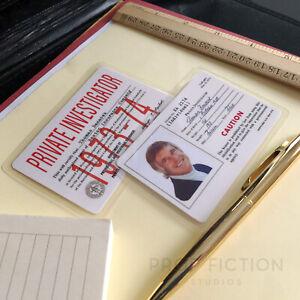 Banacek - Prop Private Investigator Licence IDs / Vintage Cosplay Wallet Cards