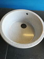 EVIER  ROND  COMPOSITE  BLANC  MOUCHETE  GRIS  DIAMETRE  500mm