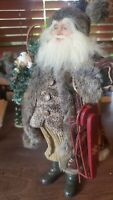 "Doll Santa Father Christmas GORGEOUS about 18 "" tall Vintage Preowned"