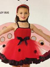Halloween Lady Bug Dance Costume Artstone Red Jazz Tap Ballet Character Dress