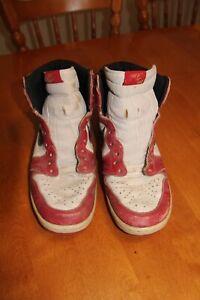 1985 Original Nike Air Jordan I 1 Chicago White Red Black OG Size US 11 Vintage