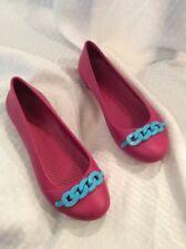 EUC Crocs Women's Link Chain Ballet Flats Size W6 Color Multi
