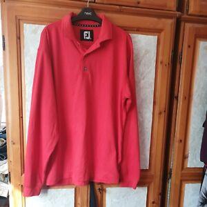 Footjoy red  Golf Top. Long sleeve.  XL