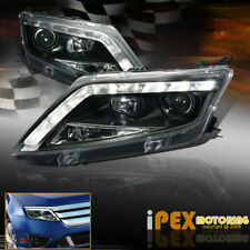 2010 2011 2012 Ford Fusion S/SE/SEL ULTRA LED DRL Bar Projector Headlights Black
