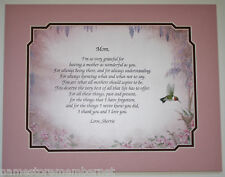 Personalized Poem for Mom ** Birthday or Mother's Days Gift Idea **L@@K**