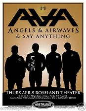ANGELS & AIRWAVES/SAY ANYTHING 2010 CONCERT TOUR POSTER-Blink 182, Box Car Racer
