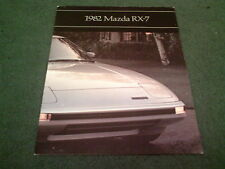 1982 MAZDA RX7 / RX-7 GS / GSL / S COUPE USA 16 PAGE COLOUR BROCHURE