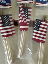 New 3 4-Packs American Flags 12 Total Mini Us Flags 4x6 Inches Made In Usa