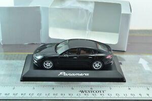 Herpa Diecast Porsche Panamera Car Black 1/43 Scale