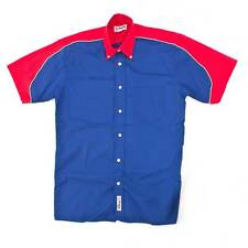 Grease Monkee GT Short Sleeved Shirt, Royal And Red, Medium M