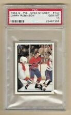 1984 o-pee-chee sticker #147 larry robinson montreal canadiens psa gem mint 10