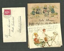 1931 Cover Sent From Oberthuba Germany To Bad Mergentheim With Letter