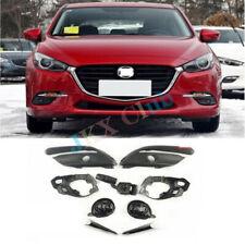 For Mazda 3 Axela 17-18 Fog Cover+Light Bracket+Fog+LIGHT SWITCH LEVER+Trim Kit