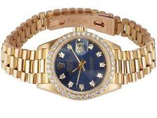 Rolex Lady Datejust 69178 18 K 750 oro 1,0 CT Diamond Blue dial reloj de pulsera 26mm