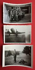3 x Foto US Besatzer um 1950 Militär Fahrzeug Flugzeug    ( 8630