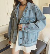 2017 Vintage Womens Oversize Denim Jeans Jacket Boyfriend Style Coat As Pic US S