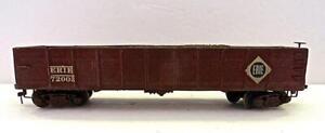 Early 1930's-1940's HO Craftsman Built ERIE Brass, Metal & Wood Gondola (888)