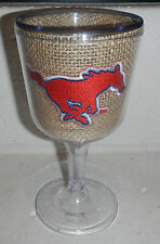 Southern Methodist University SMU Mustangs Insulated Plastic Wine Glass Mee Too