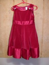 Gymboree Velvet & Satin Crinoline Dress ~ Girl's Size 4 ~ Red