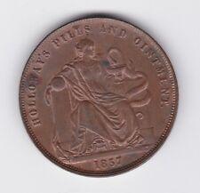 1857 Token 1 Penny Professor Holloway's Pills & Ointment London England GB