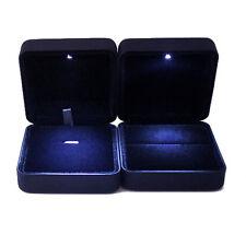 LED Ringschatulle Ringbox Schmuckkasten Ringdisplay Geschenkbox für Ringe