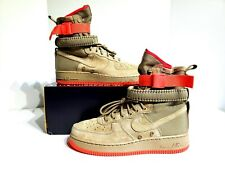 Nike SF AF1 Khaki/Rush Coral Special Field Air Force 864024 205 Mens Size 9.5