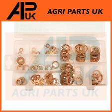150pc Solid Copper Washer Assortment Kit Sump Plugs Injector Nozzle Engine ring