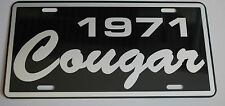 METAL LICENSE PLATE 1971 71 COUGAR XR7 302 351 427 428 MERCURY MUSCLE CAR