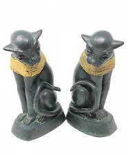 Vintage Brass Decorative Sphynx Cat  Sculpture Book Ends