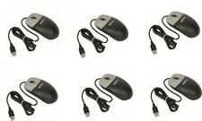 Lot of 6 Dell Optical 3-Button Scroll USB Mice - Blk & Silver