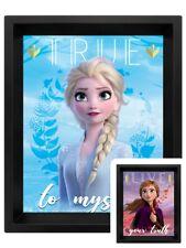 Frozen 2 Poster (Sisters) 3D Lenticular Framed Poster 20x25cm