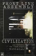 Front Line Assembly 2004 Civilization Metropolis Records Promo Poster Original