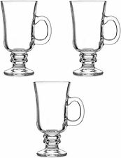 Irish Coffee Glasses Set Of 3 Irish Coffee Mugs 250ml Footed Irish Coffee Glass