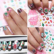 Santa Water Transfer Decals Manicure Decoration Foil Wraps Nail Art Stickers