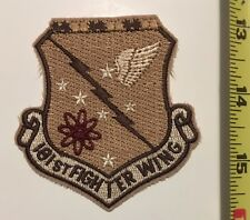 USAF tan Patch - 180th Fighter Wing FW F-16 Fighting Falcon Rare!!