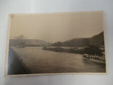 Binnenschiff Dampfer Rhein bei Bingen 2 x echt Foto AK