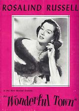 "Rosalind Russell ""WONDERFUL TOWN"" Bernstein, Comden & Green 1953 Tryout Program"