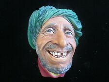 Vtg Bossons Head Chalkware Rare Genie,Arab,Gap Tooth,Pirate ???  Nice !! RARE