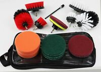 17 Piece Drill Scrub Brush Set For Fabric/Tile/Ceramic FREE EXPEDITED SHIPPING