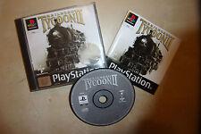 PS1 PLAYSTATION 1 PSONE gioco Railroad TYCOON II/2 + scatola completa di istruzioni