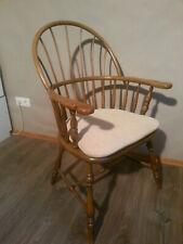original antik, Windsor Armlehnen-Stuhl um 1880 Highback, mit waschbarem Polster