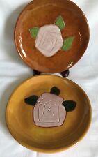 Studio Pottery Decorative Plates Matching Pair Artist Signed 1998