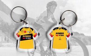 TEAM Jumbo Visma t-shirt / jersey keyring cycling, Tour de France Primoz Roglic