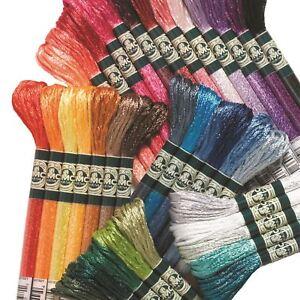 DMC Satin Cross Stitch Threads/Skeins S211-S5200 100% Rayon 8m