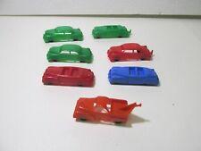 Vintage Plastic Manoil Set Of 7 Car Train Accessories HO Gauge Scale tr1958