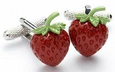 Strawberry Cufflinks in Onyx Art of London Presentation Gift Box