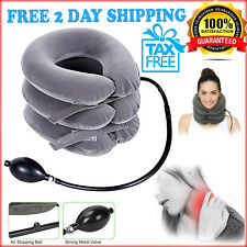 Cervical Neck Traction Device Inflatable Necksmith 3 layer Cradle Pain Relief