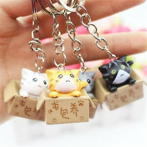 Lucky Cats Keyring Chi's Cat Keyring Keychain Car Key Ring Chain Cute Gift 1pc t