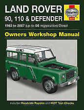 Defender Paper 1996 Car Service & Repair Manuals
