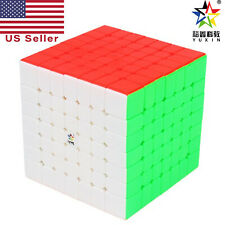 YuXin 7x7 Fastest Speed Cube Twist Magic Puzzle Toy Stickerless World Record NEW
